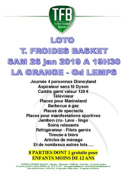 LOTO ANNUEL TERRES FROIDES BASKET