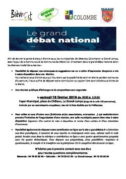 LE GRAND DEBAT NATIONAL